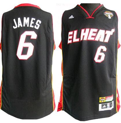 bbea9ee30744 Cheap Heat 6 LeBron James Stitched Black NBA Jersey China - nba